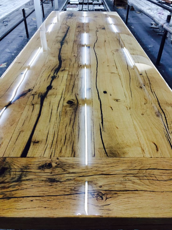 Tabletop of Brushed old wagon wood.... New collection item ccoating 2014 Www.genesispd.nl