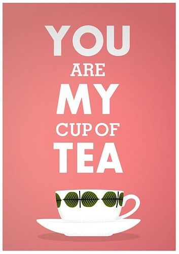 print tea cup stig lindberg - you are my cup of tea - valentine a3