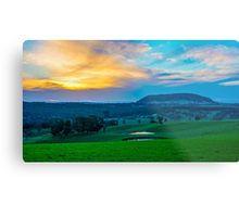 Mount Franklin Sunset Re-Visited Metal Print