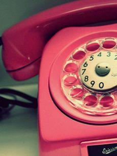 The pink rotary dial !