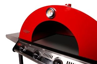 Beefeater Gas BBQ Pizza Oven  Create the greatest backyard ambience and still have the best of both worlds - Gas BBQ & Pizza Oven. For use with either Beefeater Discovery 4 Burner or 5 Burner BBQ - (bbq not supplied.) Remove the exterior plates & grills, leaving only a plate undeneath the inside of the pizza oven that will form the base to place the Pizza Stone on.