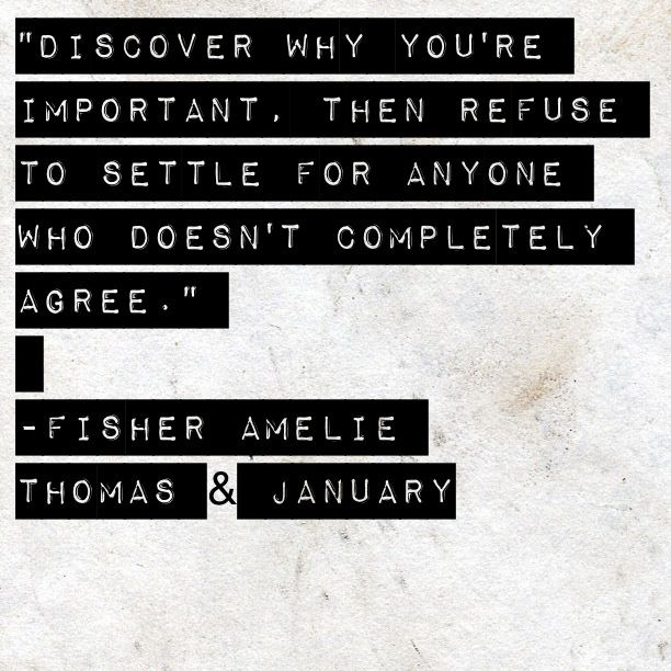 fishe amelie book quotes | Thomas & January, Fisher Amelie ...