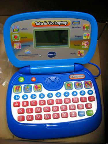 Vtech Tote Go Laptop Computer Blue Learning System Electronic Web