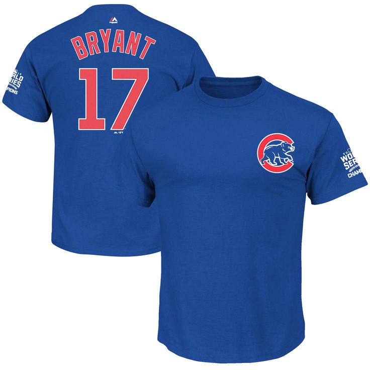 Kris Bryant Chicago Cubs Majestic Youth 2016 World Series Champions Name & Number T-Shirt - Royal - $19.99