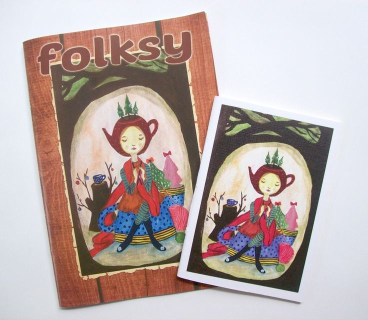 folksy 3rd edition, December 2014-Januari 2015. Cover illustration by Tina Wahyuningsih