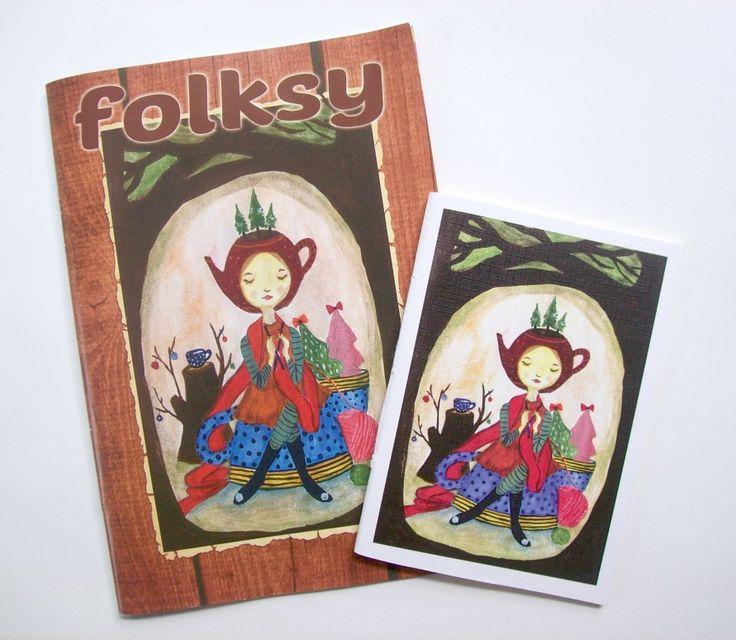 folksy 3rd edition, December 2014-Januari 2015. Cover illustration by Tina Wahyuningsih