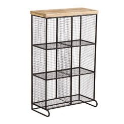 Evergreen Farmhouse Chic Wire Mesh 6Bin Cubical Storage Unit