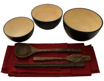 Mango Wood Oryoki Set from Still Sitting Meditation Supply