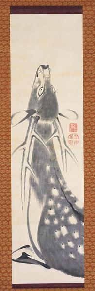 a hart. Jakuchu Ito. Japanese hanging scroll. Eighteenth c.