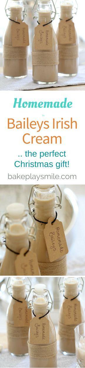 ► Bailey's Irish Cream Recipe: cream, condensed milk, Irish whiskey, chocolate syrup, vanilla and instant coffee.