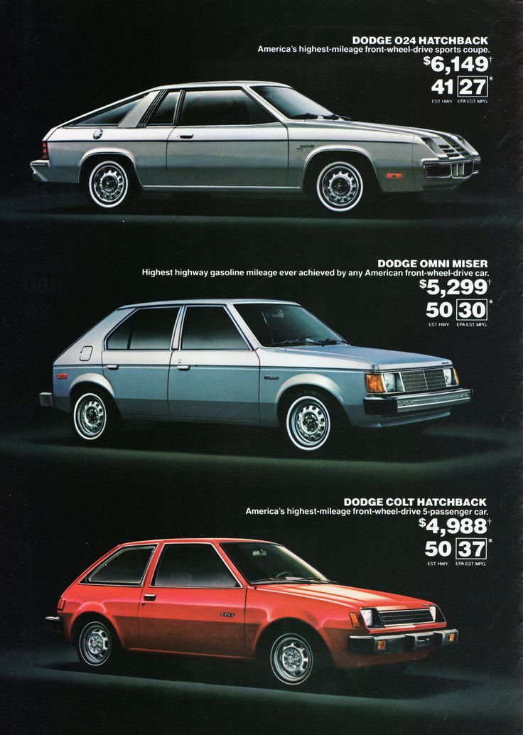 Dodge used to have quite the economy car lineup, with the Colt, Omni, and Omni 024. Note the lack of passenger mirrors.