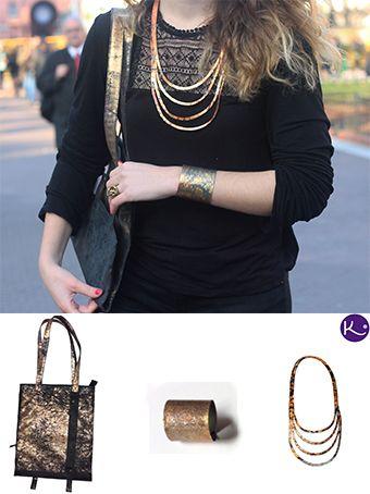 Cartera expansible con collar, pulsera y anillo de fusión - Diseñados en Käira