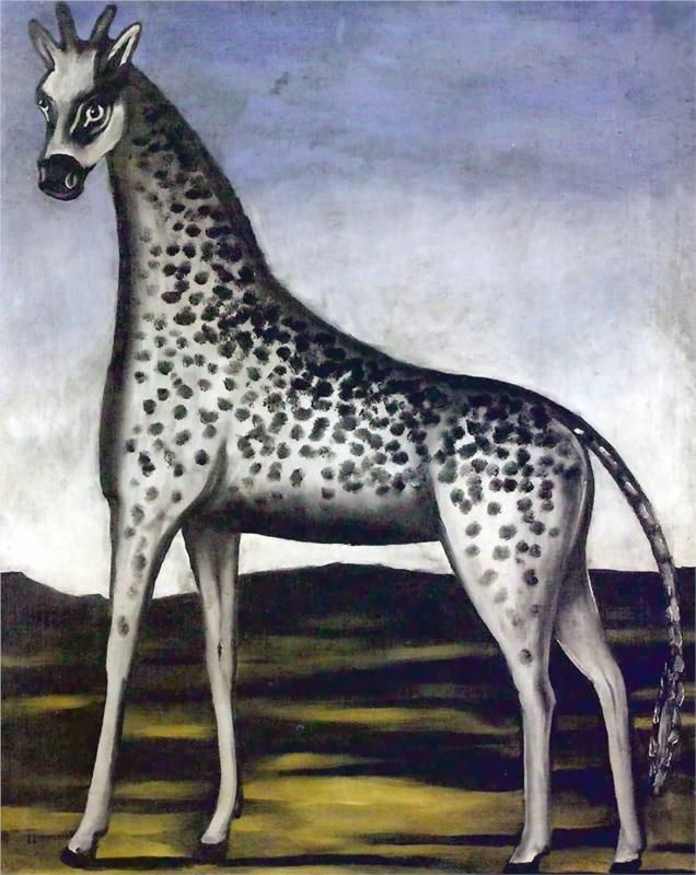 Giraffe, 1905-Niko Pirosmani - Featured Artworks