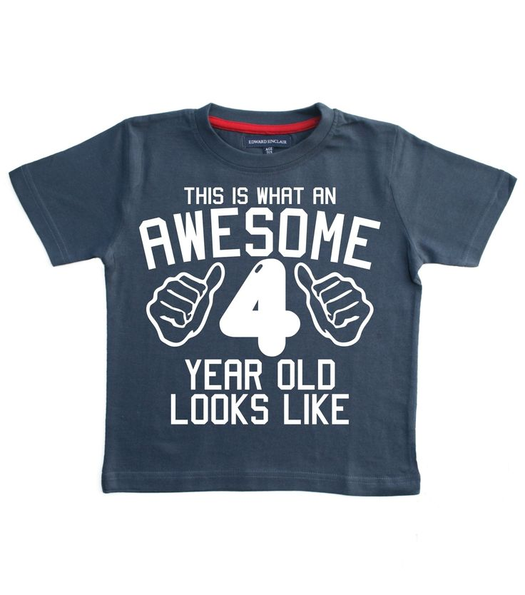 THIS WHAT AN AWESOME 4 YEAR OLD LOOKS LIKE Navy Boys 4th Birthday T Shirt