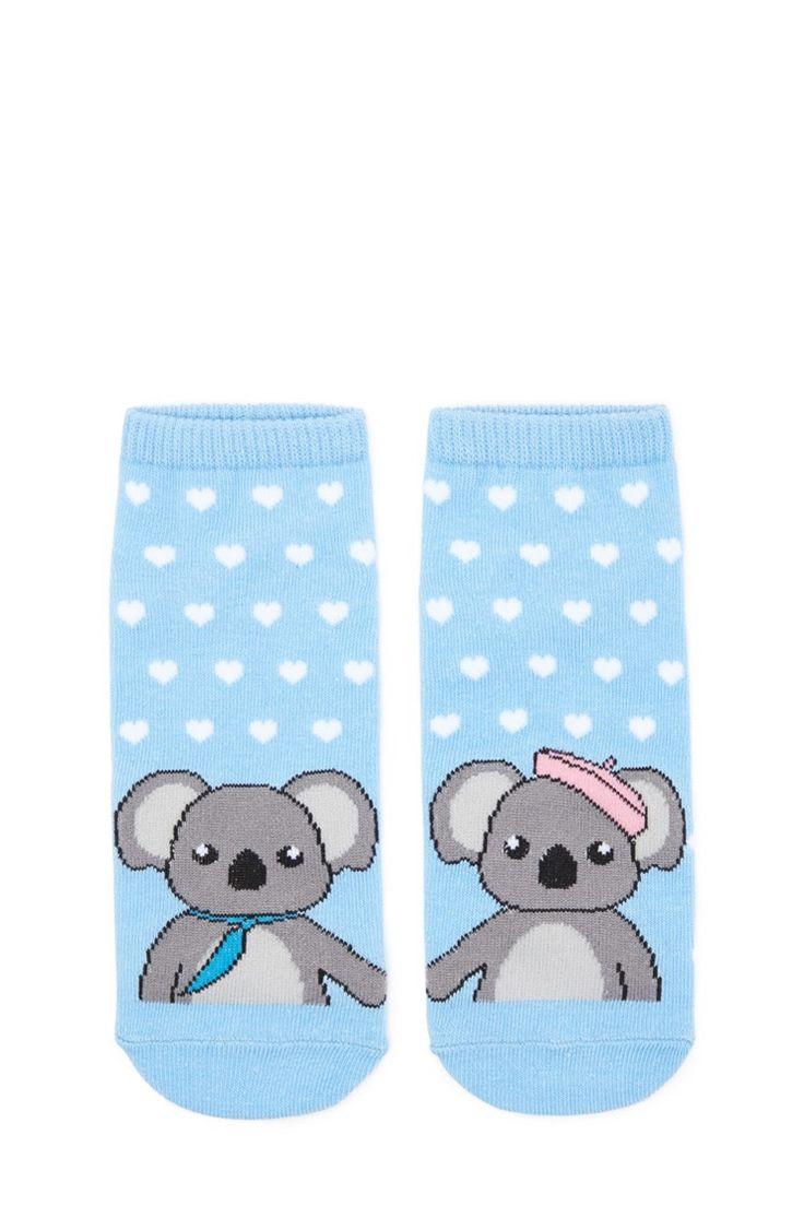 Socquettes à imprimé de koala