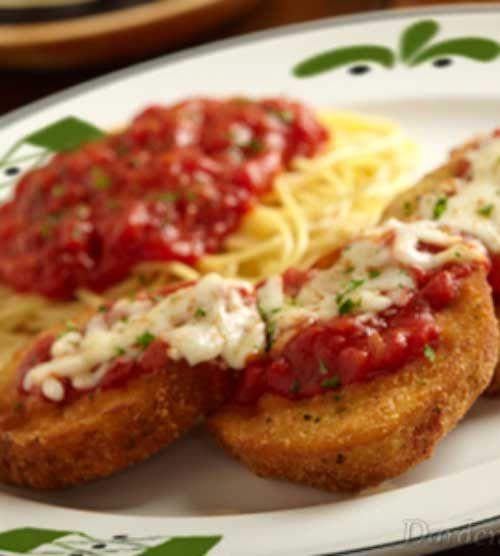 Receta para Copycat Olive Garden berenjena a la parmesana - Una grapa italiano, berenjena parmesana de Olive Garden es una toma maravillosa en la pieza de un tiempo sin edad.
