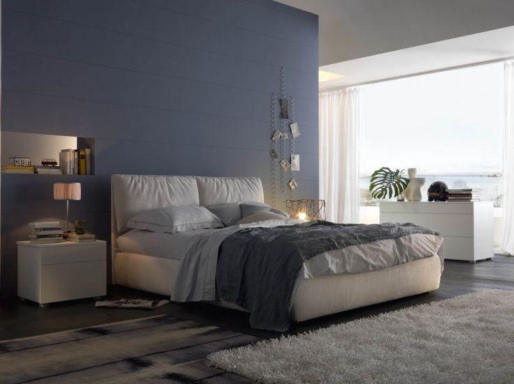 Letti moderni imbottiti, modello Formentera, un letto con doppio movimento, realizzabile anche in versione matrimoniale, singolo e oversize.