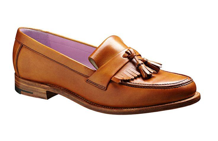 Barker Heather  Womens Barker tassel loafer in cedar calf  http://www.robinsonsshoes.com