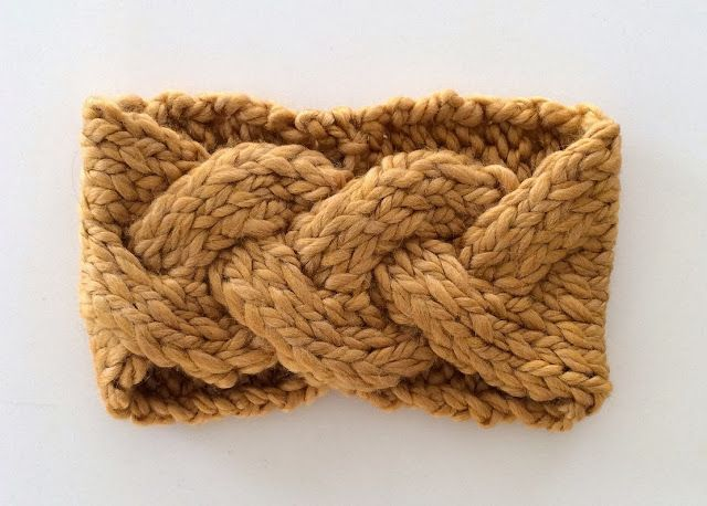 Knit your own Top Braided Headband! Free pattern.
