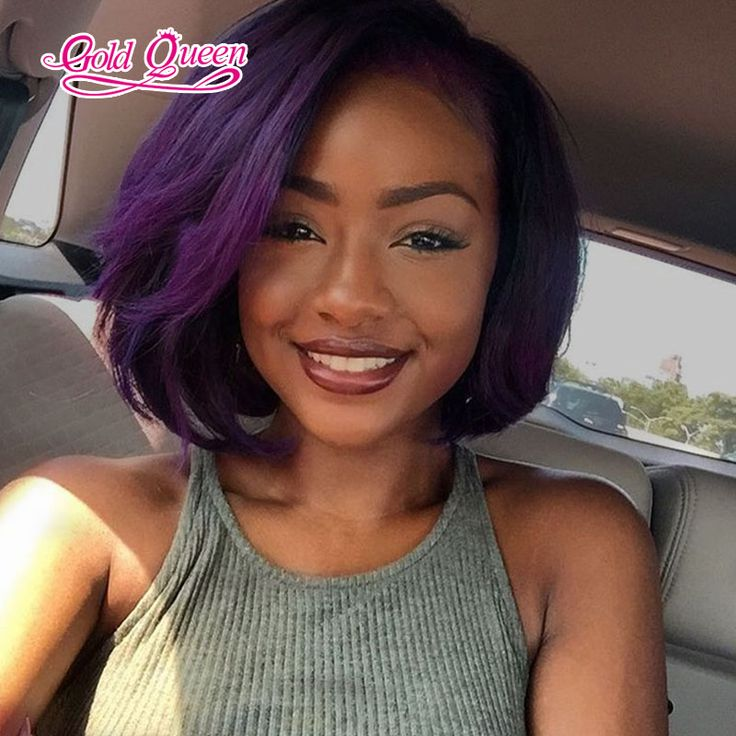 37 best brazilain human hair extensions images on pinterest hot brazilian virgin hair straight purple lace front wig 10inch purple bob lace pmusecretfo Gallery