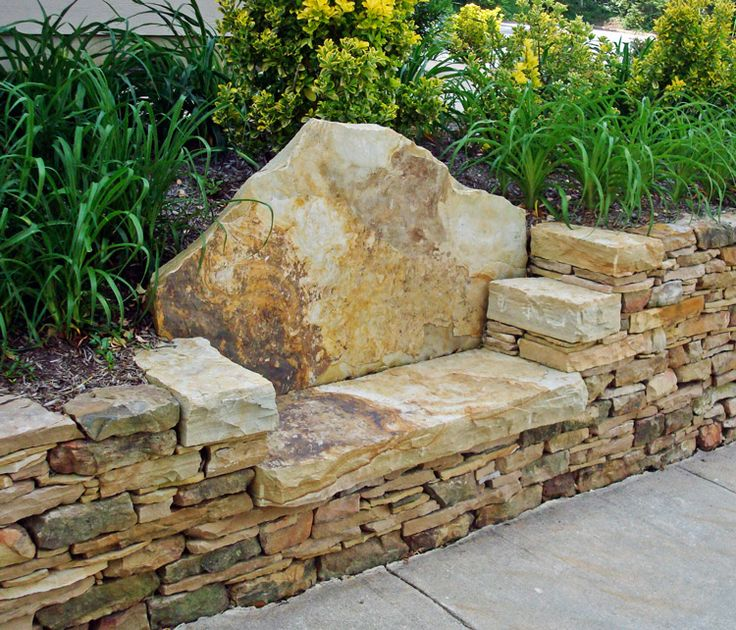 I like the dentist chair seat and the chatty details about stone bench installation grow Stone garden bench