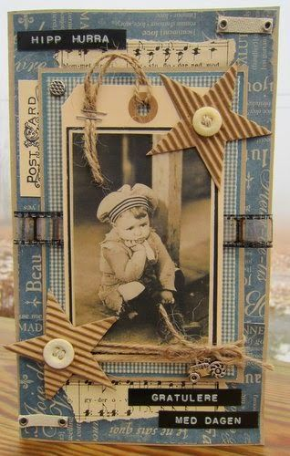 Tag - art journal - greeting card inspiration.  Vintage, beach. min lille scrappe-verden: Bursdagskort