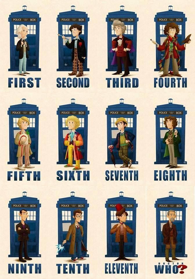 All the drs. for Dr. Who.
