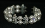 Handmade crystal and pearl bracelet for brides, wedding and formals.  Redki - Jewellery, Jewelry    www.redki.com.au