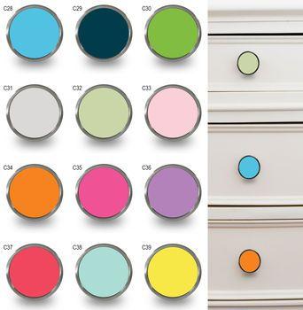 colourful fun decorative cupboard knobs by pushka knobs | notonthehighstreet.com