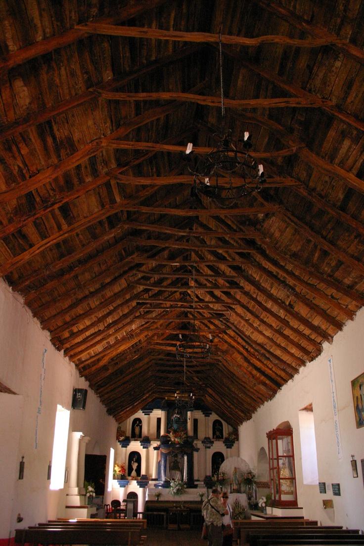 Interior Iglesia de San Pedro de Atacama/ Inside San Pedro de Atacama Church, II región, Chile