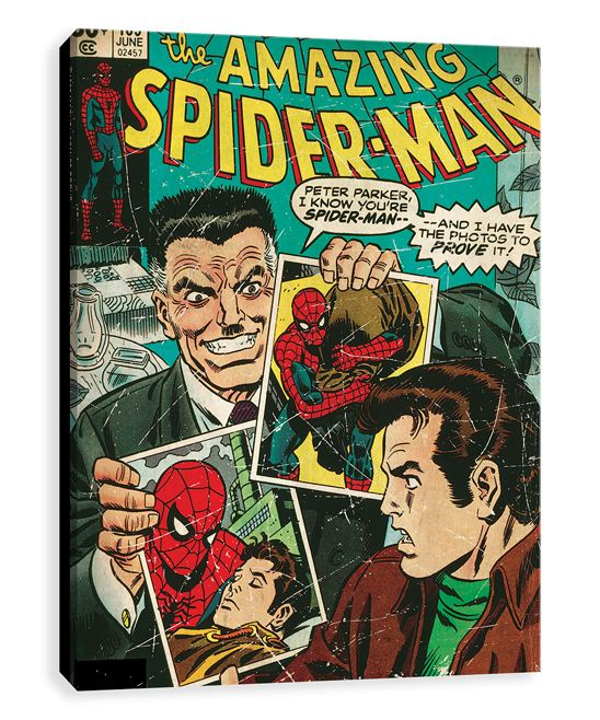 Spider-Man & J. Jonah Jameson Gallery-Wrapped Canvas