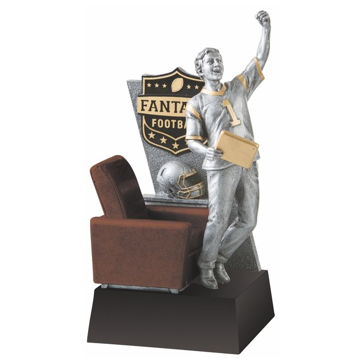 Celebrate your fantasy league champ with this awesome trophy!  Engrave their team name and year on the bottom for free.