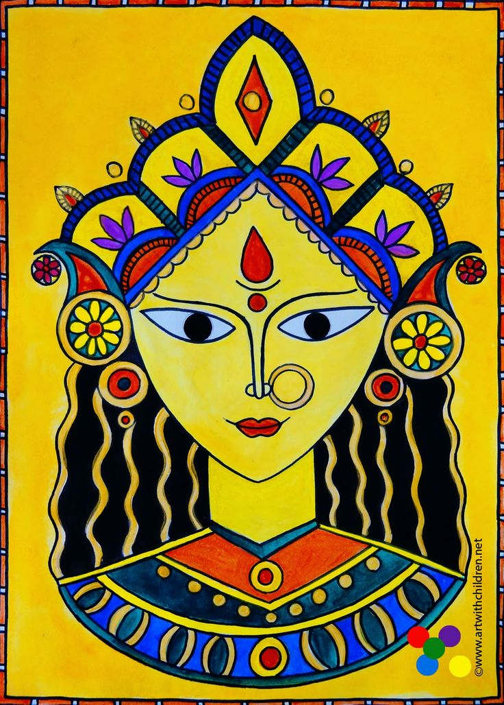Art With Children Durga Puja And Dussehra In 2019