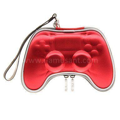sac rigide pour manette ps4 rouge accessoires ps4. Black Bedroom Furniture Sets. Home Design Ideas