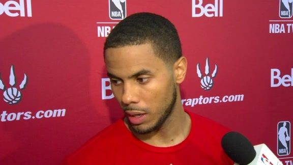 D.J. Augustin on his early experience at #Raptors Training Camp after Day 2.