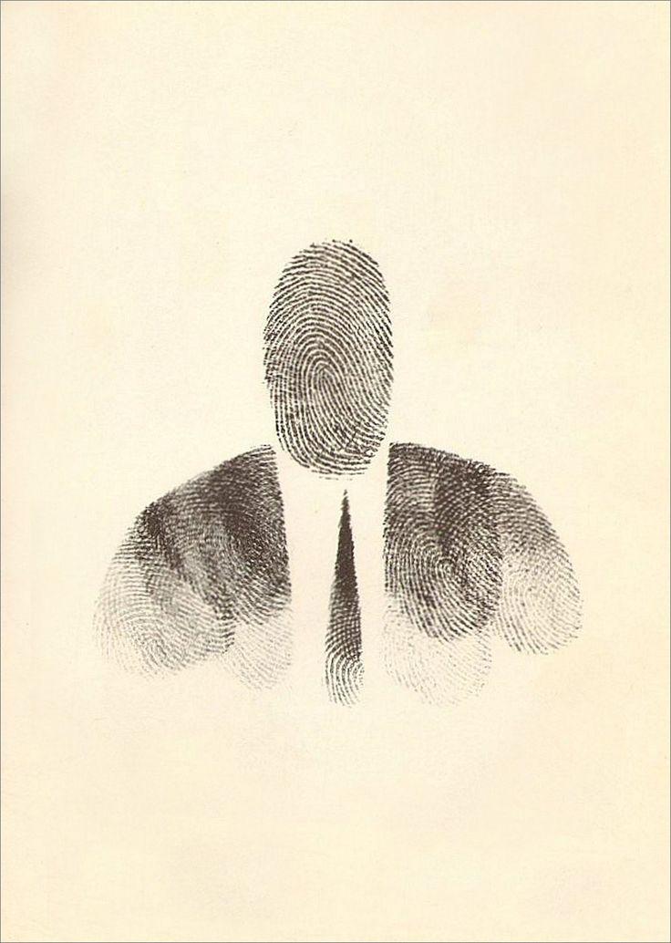 Saul Steinberg · Self Portrait | Ink and Fingerprint · 1955