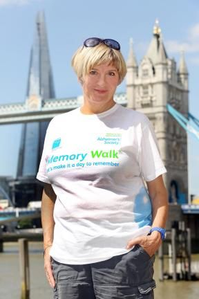Victoria Wood in one of the T-Shirts we provided exclusively for Alzheimers' Memory Walks in 2013