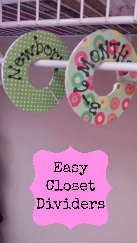 DIY closet dividers for a new baby's room.  Perfect to give as a gift too!