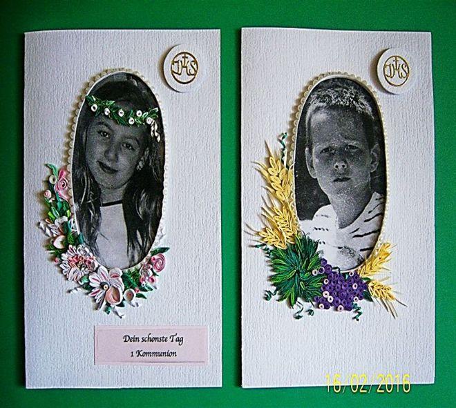 Autor.Graga. Pomysł na kartki komunijne ze zdjęciem wykon.na kalce dodaje oryginalności (wg mnie).