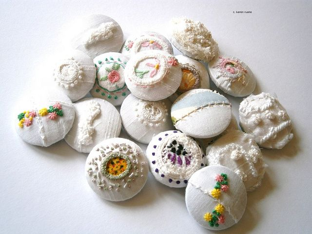 Beautiful bunch of buttons and brooches