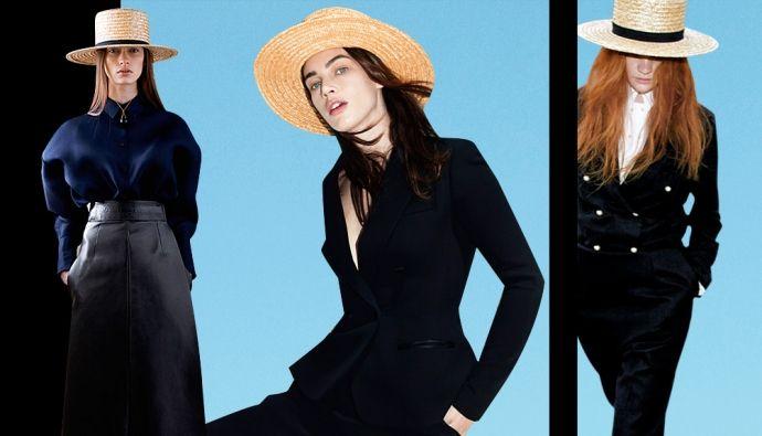 Как-то очень незаметно классика мужского стиля — костюм с рубашкой, туфлями и шляпой-канотье — перекочевала в женский гардероб