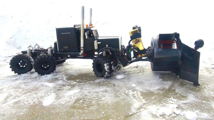 RC ADVENTURES - RC Rotary Snow Plow / Snow Mover (Test 2 Day Time)