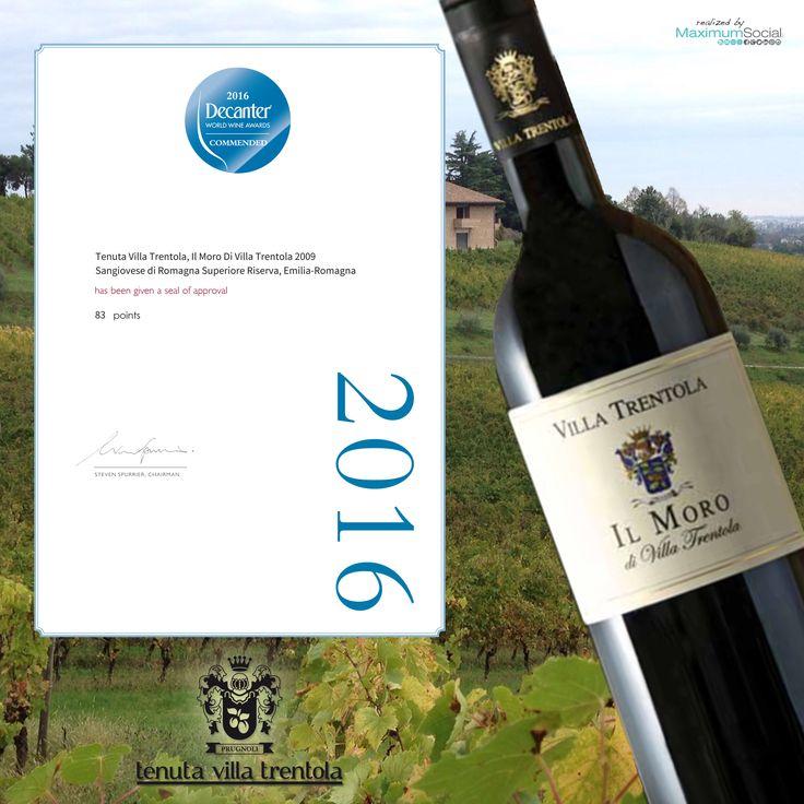 """✨✨ Tenuta Villa Trentola ha vinto un altro premio! Siamo orgogliosi di comunicarvi che abbiamo vinto il premio #DECANTER con il nostro vino """"Il Moro 2009"""". ✨✨ https://www.facebook.com/467580976768179/photos/a.467977766728500.1073741828.467580976768179/483342005192076/?type=3&theater"""