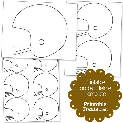 Printable Football Helmet Template From PrintableTreats