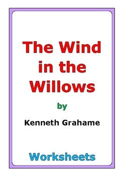 "This is a 60-page set of worksheets for the story ""The Wind in the Willows"" by Kenneth Grahame. This also includes a 4-page story test. For each chapter, there are two worksheets: * comprehension questions * vocabulary and story analysis In addition, this novel study includes a wide variety of differentiated worksheets and activities: * story review * similes * personification * alliteration * story reflection * theme * indirect characterization * connections * cause and eff..."