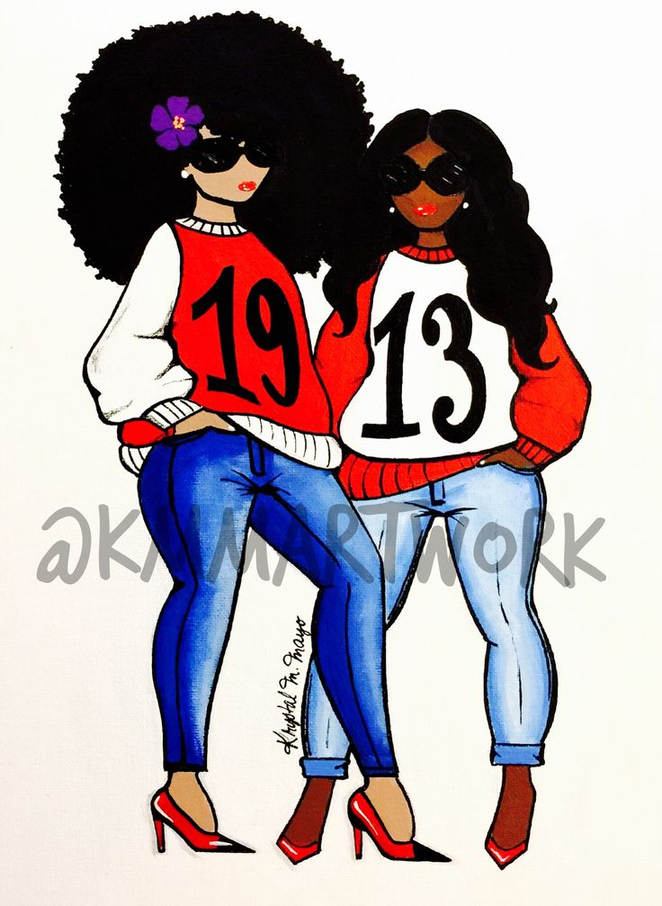 "Delta Sigma Theta - 1913 - ""DynaSTy Girl's"" - Hand painted by KMM"