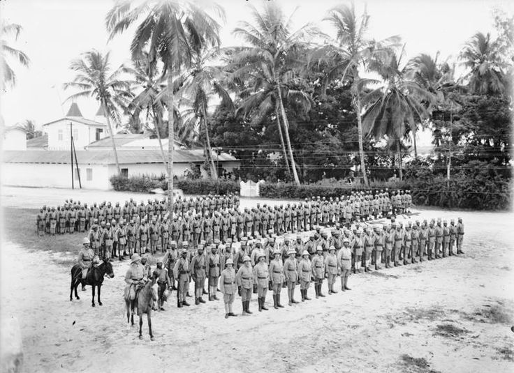 German East Africa -- an askari unit, First World War