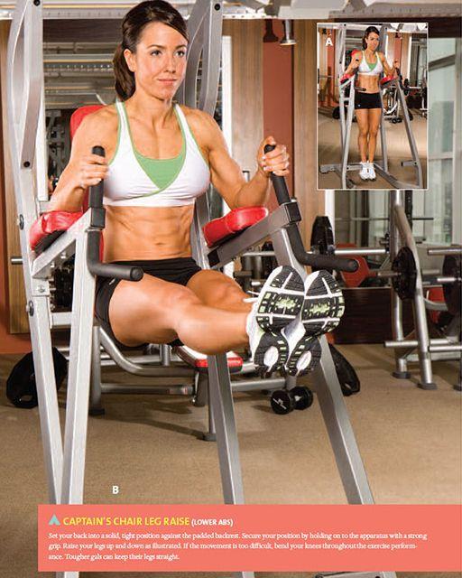 """Captain's Chair Leg Raise"" works your abs - especially ..."