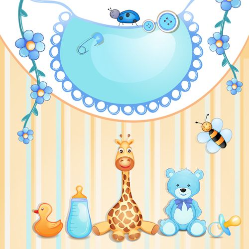 Cute baby cards creative design graphics vector 01