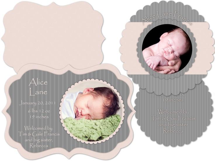 Little Moons Design Boutique Alice Luxe Die Cut Card
